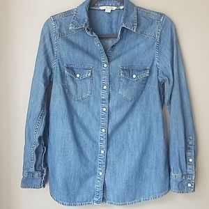 Boden size 4 chambray button up